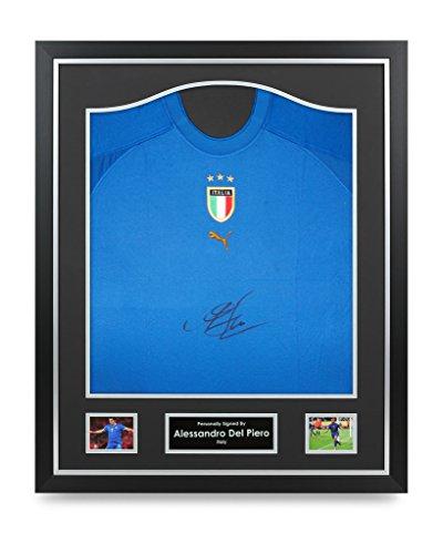 Alessandro-Del-Piero-Signed-Shirt-Framed-Italy-Autograph-Jersey-Memorabilia-COA