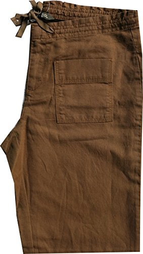Pantalon en lin femmes de Eddie Bauer Marron