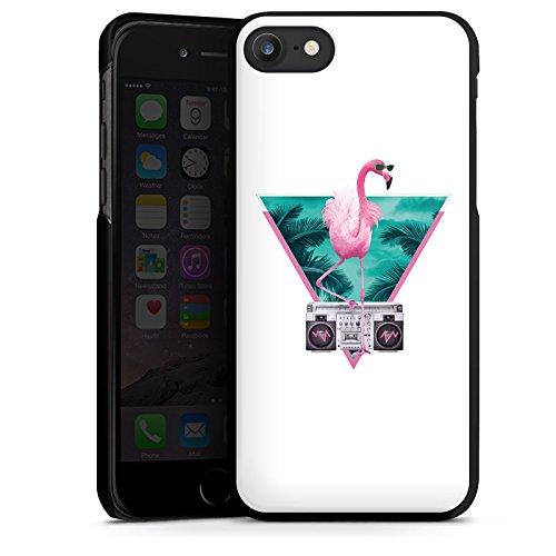 Apple iPhone X Silikon Hülle Case Schutzhülle Flamingo Dreieck Disco Hard Case schwarz