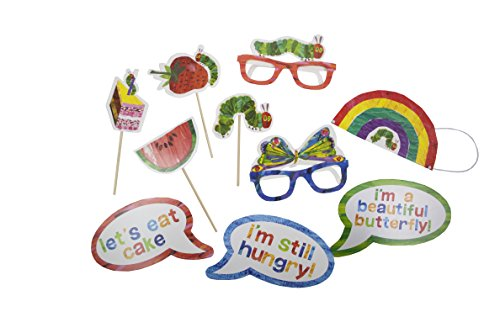 World of Eric Carle, The Very Hungry Caterpillar Party Supplies, Fotobooth Dress Up Requisiten, 10-teiliges Set