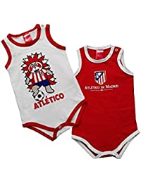 Pack 2 Bodys ATLÉTICO DE MADRID de Tirantes para Bebés