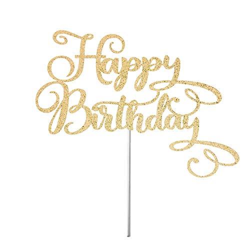 Happy Birthday Tortenaufsatz Glitzer Geburtstag Tortenaufsatz 50. Geburtstag Meilenstein Geburtstag Party Dekoration Glitzer Topper