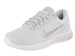 Nike Women's Lunarglide 9 Pureplatinumchrome Running Shoe 9.5 Women Us