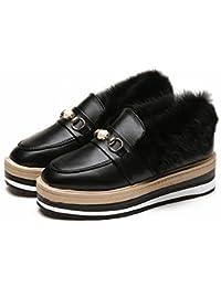 Fondo Grueso de la Torta en el Extremo de Los Zapatos de Las Mujeres con un Solo Amante de Encaje Zapatos Británicos ,…