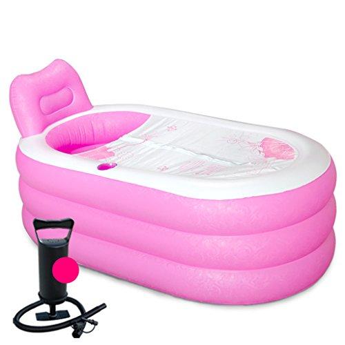 Bañera hinchable Mizii gruesa para adultos bañera plegable barril plástico bañera, 2#, 130cm*82cm...