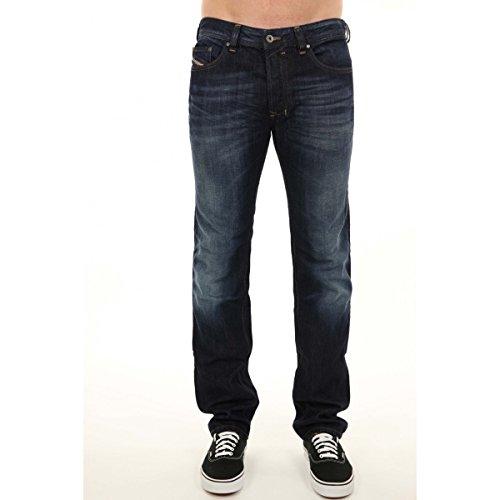 Diesel Safado 0R4SB R4SB Herren Jeans Hose Regular Slim Straight Blau Dunkelblau (W30/L32)
