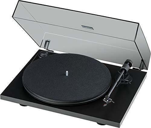 Pro-Ject Primary E Phono, Audiophiler Plug&Play Plattenspieler mit integrierter Phono Vorstufe (Schwarz) (Plattenspieler Project)