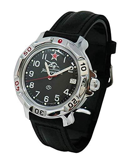 Vostok komandirskie 811306Russo serbatoio militare meccanico orologio da polso movimento 2414