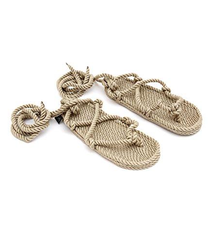 n Sandale aus Seil Camel, 38 ()