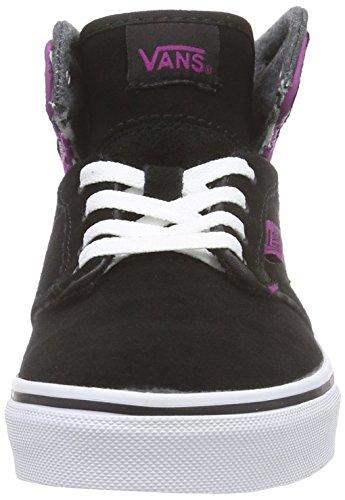 Vans Z Atwood Hi Mte, Sneakers Hautes fille Multicolor (MTE black/deep orchid)