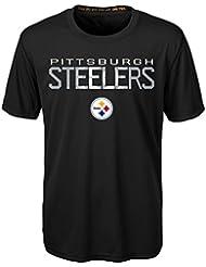 "Pittsburgh Steelers Youth Jeunes NFL ""Helix"" Performance Short Sleeve T-Shirt Chemise"