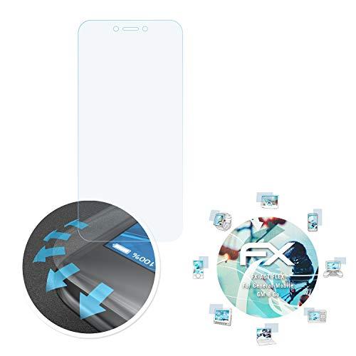 atFolix Schutzfolie passend für General-Mobile GM 8 Go Folie, ultraklare & Flexible FX Bildschirmschutzfolie (3X)