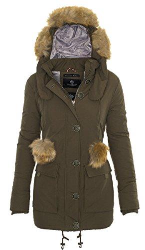 Navahoo Damen Mantel Wintermantel Steppmantel Eliya (vegan hergestellt) 7 Farben + Camouflage XS-XXL 2
