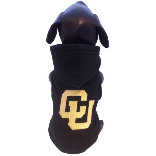 All Star Dogs NCAA Colorado Buffaloes Polarfleece Kapuzenjacke, Unisex-Erwachsene, Team Color, Small Colorado Fleece