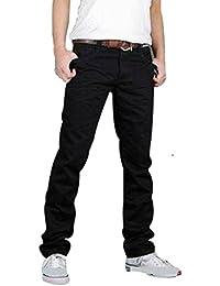 hommes de concepteur de haute qualite de jeans mode en denim noir pantalon