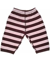 Bob and Blossom Girls Pale Pink & Brown Striped Baby Trousers