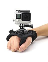 """Shoot® Handschlaufe Hand-Arm-Halterung für Gopro Hero 6, 5, 4, 1, 2, 3, 3+ Session 5, 4 und andere kleine Kameras und Sport-Camcorder (mit 1/4"""" Gewinde) (Typ B)"""