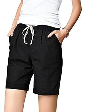 Mujeres Casual Pantalones Cortos Cintura Alta Shorts Diseño De Playa