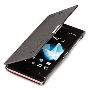 youcase - Sony Xperia J St26i Etui en cuir coque de protection Housse noir