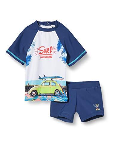 3 Pommes 3q38013 Maillot De Bain Bañador de natación, Azul Indigo 46, 6-9 Meses Talla del Fabricante...
