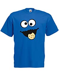 9423ad016d29 Shirt-Panda Herren Unisex T-Shirt Keksmonster Krümelmonster Gruppen Kostüm  Karneval Fasching Verkleidung Party
