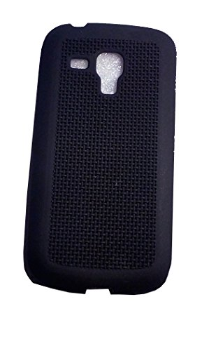 AUX MART Soft Silicone Grid Design Back Case Cover For Samsung Galaxy S Duos S7562 / GT-S7562 / S7582  available at amazon for Rs.179
