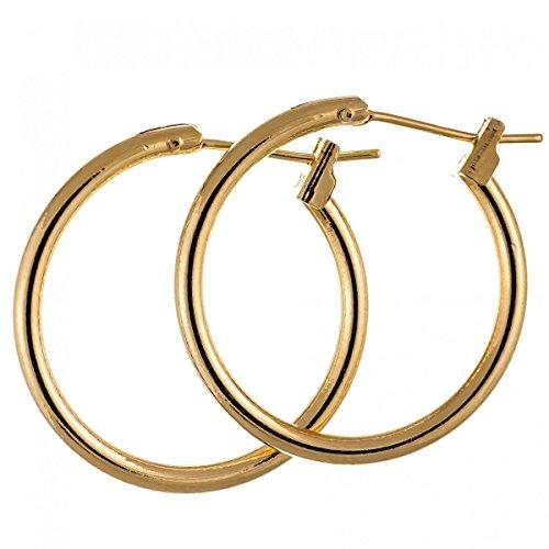 Isady – Murielle Gold – Ohrringe Damen – Kreolen - Durchmesser 20 mm - 18 Karat (750) Gelbgold platiert