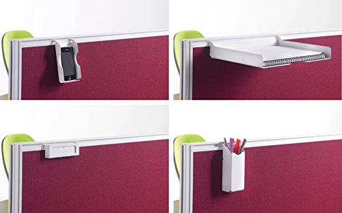 Bureau-lphant-Oe08-scrn-pack-s-cran-monte-Lot-daccessoires-en-argent-Contient-Crayons-bac–papier-A4-support-de-tlphone-et-de-carte-de-nom-support-SE-fixe-aux-Barrages-avec-cadre-en-aluminium-Desk-cra