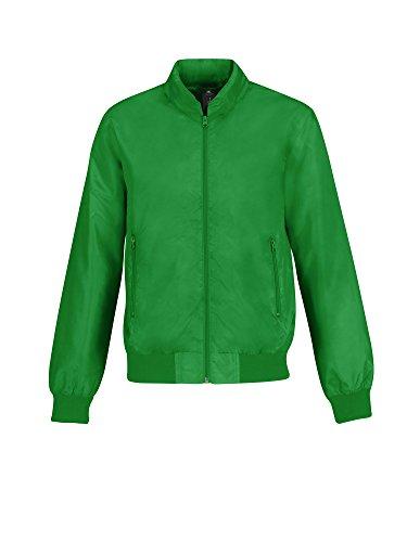 Herren Leichte Bomberjacke - Real Green/ Neon Orange Lining - XL