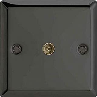 Varilight 1-Gang TV Plug Socket, Co-Axial Iridium XI8