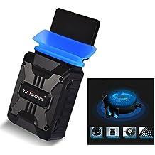 Itian Refrigerador Portátil, Ordenador Portátil Notebook Cooling Pad Aspiradora de Aire Del Refrigerador del Aire de Aspiración --- Accionado USB, Control del Viento, Funcionamiento Silencioso, Ultra-portable del Radiador, Ventilador de la CPU, Ventilador y Disipador de Calor para el Cuaderno (Negro)