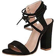 Sexy Sandales de Soirée à Talons Mi-Hauts,OveDose Été Femme Grande Taille  Chaussures 71acbfe17ded