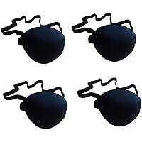 HEALIFTY Single Eye Pirate Patch con correa elástica para adultos y niños 4 piezas (negro)