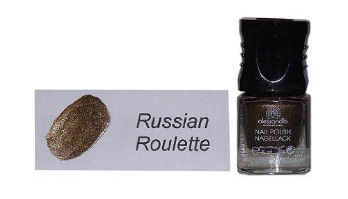 Preisvergleich Produktbild alessandro ® INTERNATIONAL GLAM SESSION Kollektion Farbe: Russian Roulette Nail Polish / Nagellack 5 ml