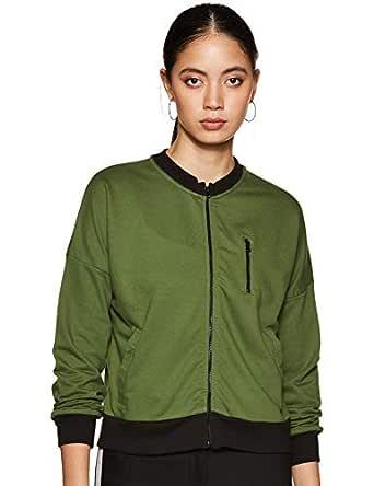 Amazon Brand - Symbol Women's Cotton Sweatshirt (AW18WNSSW19_Forest Green_Small)