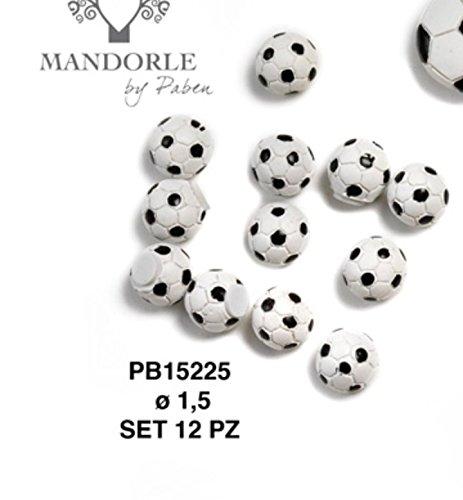 Subito disponibile 48 pezzi pallone calcio in resina da 1.5 cm decorazione bomboniera