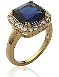ISADY - Alarice Gold Saphir - Women's Ring - 750/000 (18 Carat) Gold - Cubic Zirconia Blue