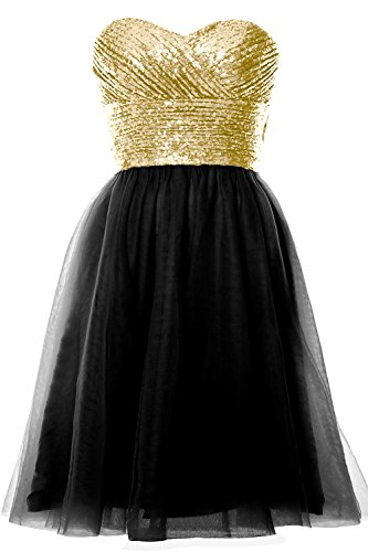 MACloth - Robe - Trapèze - Sans Manche - Femme Light Gold-Black