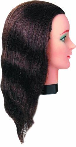 Fripac-Medis Tête de Mannequin à Cheveux Longueur Des Cheveux 40 cm