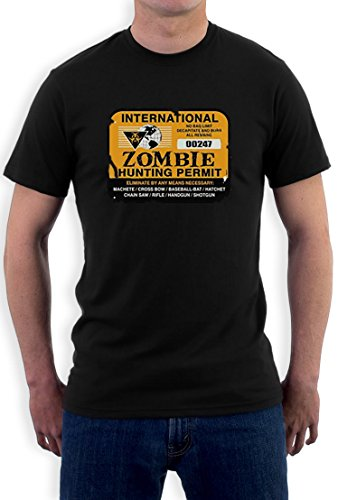 International Zombie Hunting permit high Quality very comfortable T-Shirt Schwarz