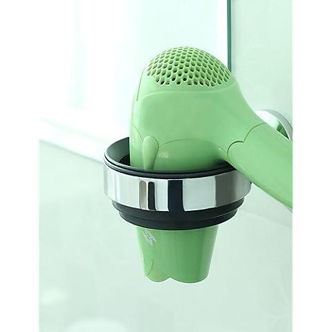 sbwylt- ENZORODI bagno accessori, Supporto per asciugacapelli, in ottone cromato, a schermo piatto erd7491C
