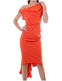 Kevan Jon SIAN Drape Dress Orange