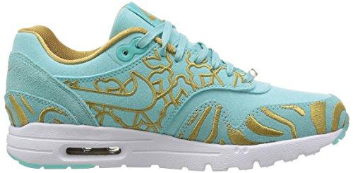 Nike W Air Max 1 Ultra Lotc Qs, Chaussures de Sport Femme Verde (Island Green / Islnd Grn-Flt Gld)