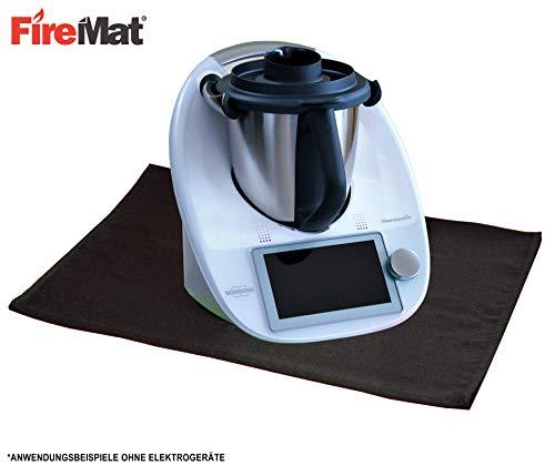 FireMat Black Edition 46x46cm Schutzunterlage passend für Elektrogeräte und Thermomix TM21 TM31 TM5 TM6, Brandschutz nach DIN Norm (46 x 46 cm)