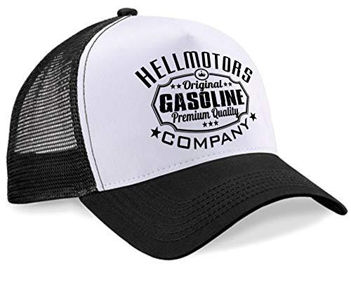 HELLMOTORS Gasoline Unisex Trucker Cap Oldschool Kappe