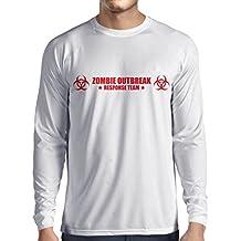 N4519L Camiseta de manga larga Zombie Outbreak Response Team
