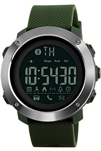 Reloj Deportivo Contador de calorías podómetro Reloj Digital Bluetooth Fitness Relojes Militares táctico...