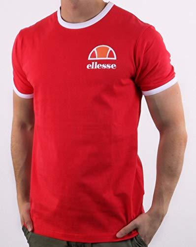 ellesse T-Shirt Algila Herren Rot Rundhals Ringer T-Shirt - Rot, XXL -