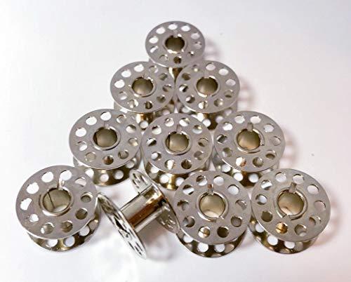 10 Spulen aus Metall für Necchi 559 Nähmaschinen -