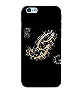Fuson Designer Back Case Cover for Apple iPhone 6 (A Diamond Alphabet G Theme)
